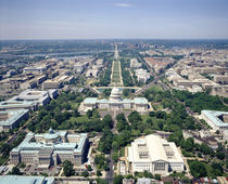 Aerial view of buildings in a city, Washington DC, USA by Panoramic Images
