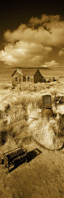 House in a ghost town, Bodie Ghost Town, Mono County, California, USA von Panoramic Images