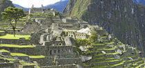 Buildings on a hill, Andes Mountains,Machu Pichu, Peru by Panoramic Images