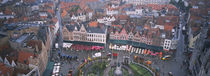 Aerial view of a town square, Bruges, Belgium von Panoramic Images
