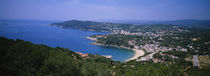 High angle view of a bay, Llafranc, Costa Brava, Spain von Panoramic Images