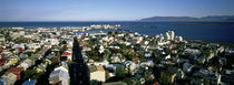 High Angle View Of A City, Reykjavik, Iceland von Panoramic Images