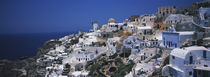 High angle view of a town, Venetian Fort, Oia, Santorini, Greece by Panoramic Images