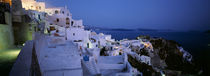 Terrace of the buildings, Santorini, Cyclades Islands, Greece von Panoramic Images