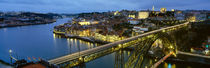 Bridge across a river, Dom Luis I Bridge, Oporto, Portugal by Panoramic Images