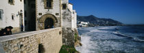 Tourists in a church beside the sea, Sitges, Spain by Panoramic Images