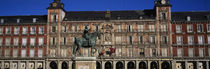 Statue In Front Of A Building, Plaza Mayor, Madrid, Spain by Panoramic Images