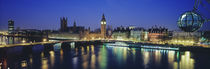 Houses Of Parliament, Thames River, London, England by Panoramic Images