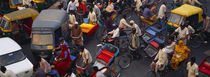 High angle view of traffic on the street, Old Delhi, Delhi, India by Panoramic Images