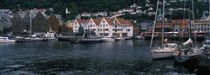 Buildings at the waterfront, Bergen, Norway von Panoramic Images
