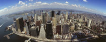 Aerial view of buildings in a city, New York City, New York State, USA von Panoramic Images