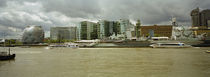 Buildings at the waterfront, Thames River, London, England von Panoramic Images