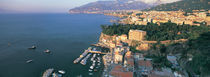 High angle view of a town at the coast, Sorrento, Naples, Campania, Italy by Panoramic Images