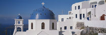 Greece, Santorini, Fira, Church of Anastasis, Blue dome on a Church von Panoramic Images