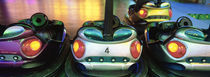 Close-up of bumper cars, Amusement Park, Stuttgart, Germany by Panoramic Images