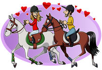 Riders in love by William Rossin