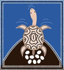 Dreamtime - Longneck Turtle von deboracilli