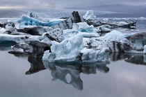 Icebergs in Jokulsarlon lagoon in Iceland by William Lee