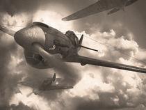 Second world war retro airplanes by Juan Tortajada