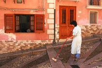 Schwarze Katze - Via Roma a Termini Imerese Sicilia von captainsilva