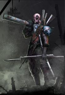 Deadpool WW2 von Saad  Irfan