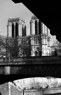 Notre dame and people by Alexandre Gaillard