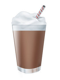 Chocolate milk shake by William Rossin