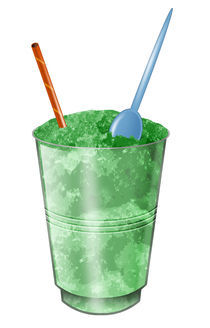 Crushed ice drink by William Rossin