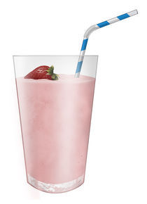 Strawberry milk-shake by William Rossin