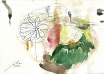 Runde rotierende Landschaft an goldenem Gerüst von Wolfgang Wende