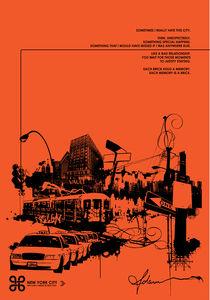 City-orange-black-27-x-39