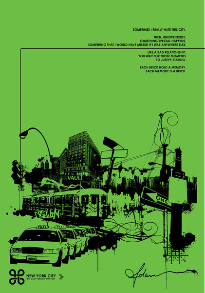 City-green-black-27-x-39