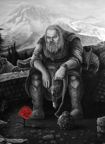Nordic Warrior, red rose by Matias Harina