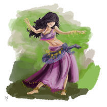 Purple Gypsy Dancing by Rob Stilwell
