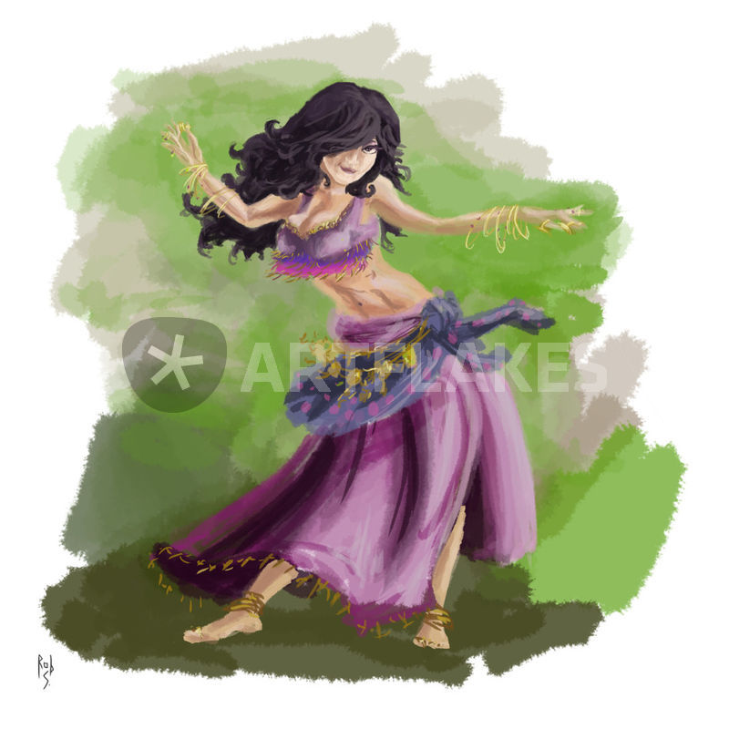 purple gypsy dancing digital art art prints and posters by rob