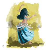 Blue Dancing Gypsy by Rob Stilwell