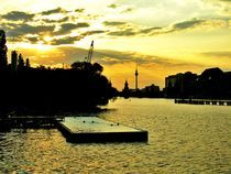 Berlin swimming on the Spree by Karina Stinson