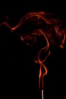 Incense smoke trails by Piotr Kuc