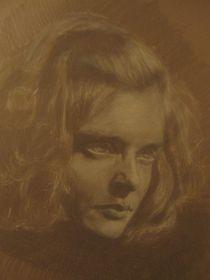 Charcoal study of Susanna by Alexandra Bäckström