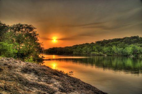 Sunset-over-lake