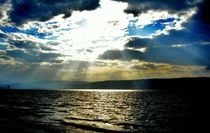 Sunrays on the Sea of Galilee by Karina Stinson