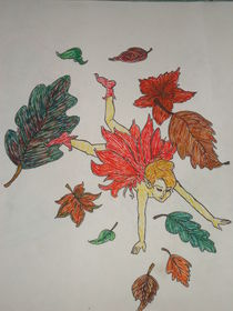 Falling in leafs  von Stacey McNally