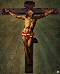 Obama on the cross 1782-2010 by Ich Henser