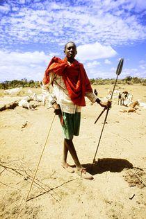 Maasai shepherd   by Simon Morelli