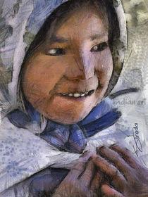 tarahumara indian girl by Ruben Strada