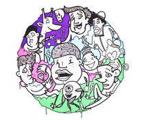 Artflakes-circle-characters-colour
