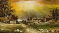 Twilight over the village / Dämmerung über dem Dorf von Apostolescu  Sorin