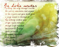 Be Like Water - Inspired by Bruce Lee by Dave Conrey