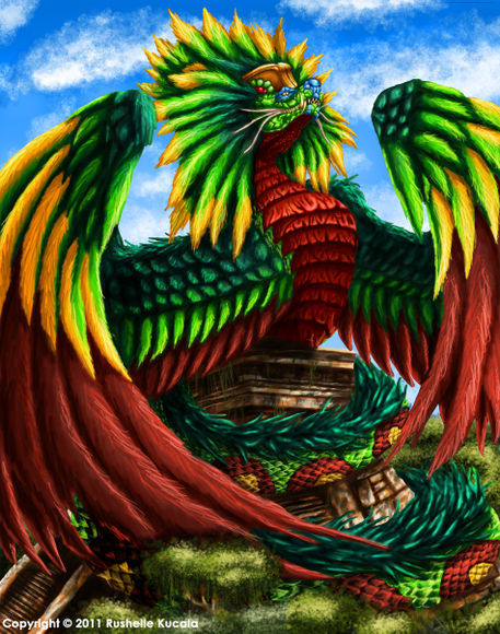 """""""Quetzalcoatl"""" Drawing art prints and posters by Rushelle ..."""