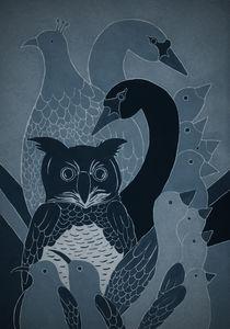 Blue Bird Collage von Amy-Jean Hahndiek